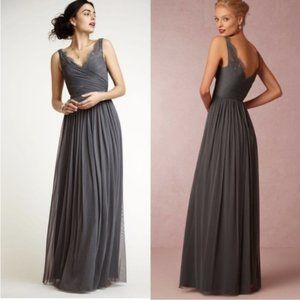 Anthropologie BHLDN Hitherto Gray fleur lace dress